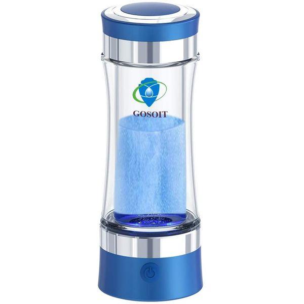 GOSOIT Hydrogen Alkaline Water Bottle Maker Machine Hydrogen Water Generator Ionizer with SPE and PEM TechnologyUS Membrane Make Hydrogen Content up to 800 1200 PPB blue 1